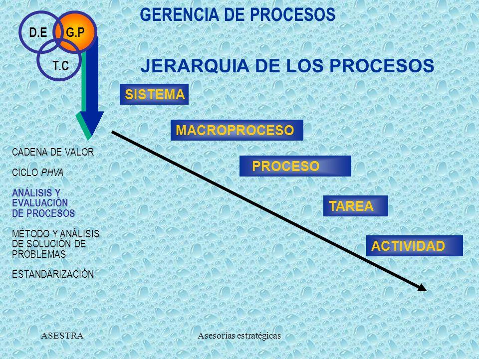 ASESTRAAsesorías estratégicas 2. ELABORACIÓN DE LA RED DE PROCESOS