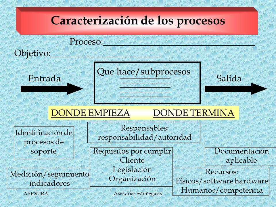 ASESTRAAsesorías estratégicas Bases para Documentar los Procesos