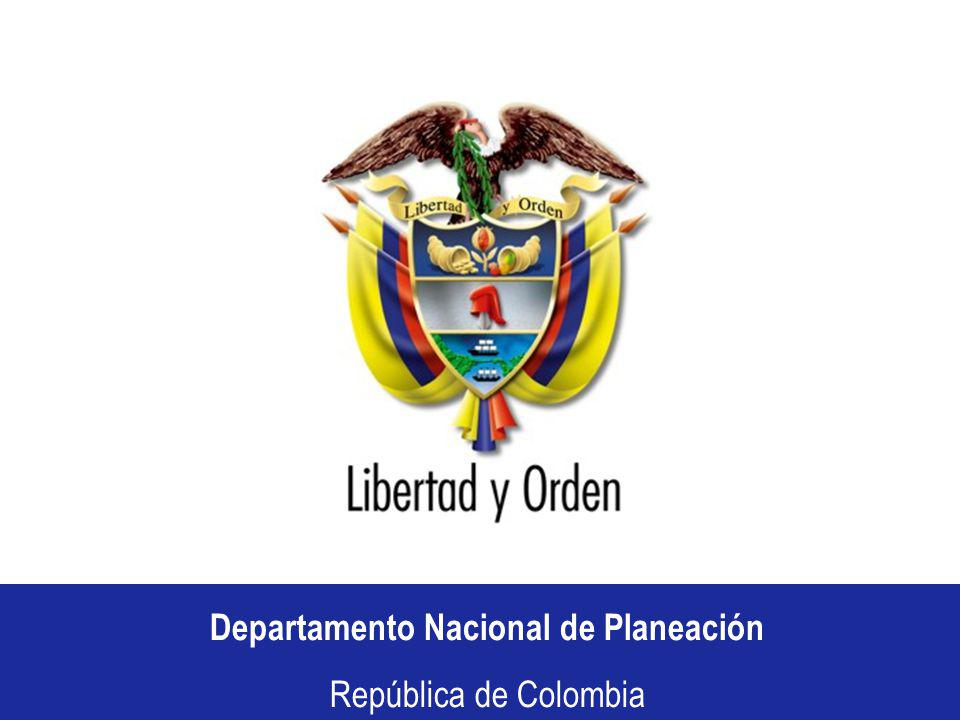 Departamento Nacional de Planeación República de Colombia Municipios que ocuparon los últimos lugares del Ranking: Municipios que no reportaron información