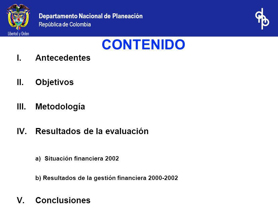 Departamento Nacional de Planeación República de Colombia No obstante, Putumayo ha cumplido con los convenios de desempeño suscritos con el Ministerio de Hacienda desde 1995, lo cual le ha permitido condonar una parte de los créditos y mejorar el perfil de la deuda mediante operaciones de reestructuración de crédito y pasivos.