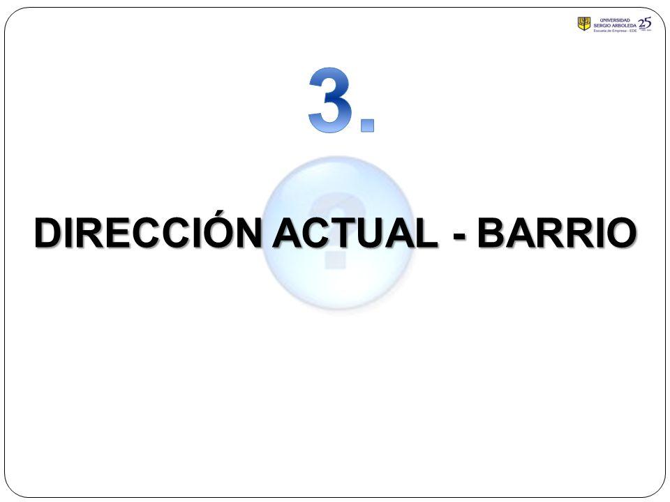 DIRECCIÓN ACTUAL - BARRIO