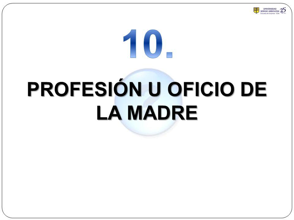 PROFESIÓN U OFICIO DE LA MADRE