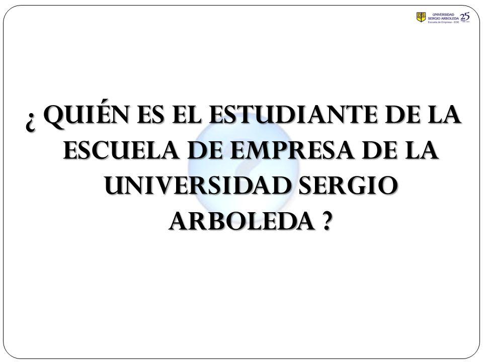 ¿ QUIÉN ES EL ESTUDIANTE DE LA ESCUELA DE EMPRESA DE LA UNIVERSIDAD SERGIO ARBOLEDA ?