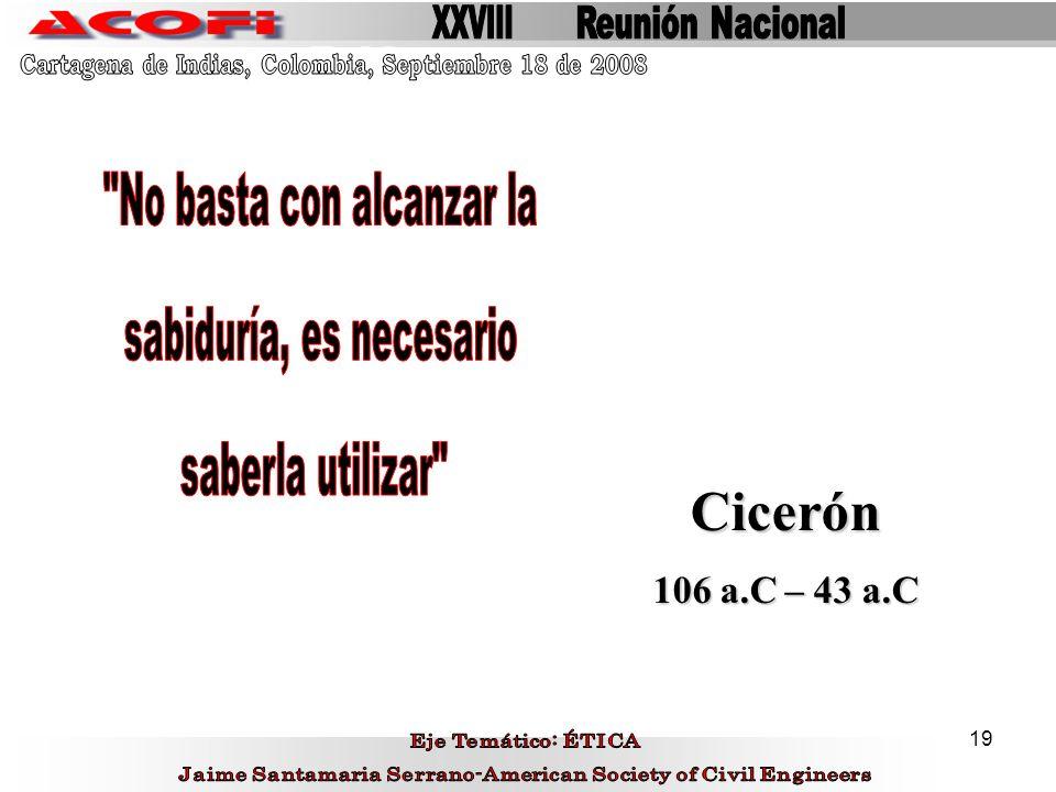 19 Cicerón 106 a.C – 43 a.C