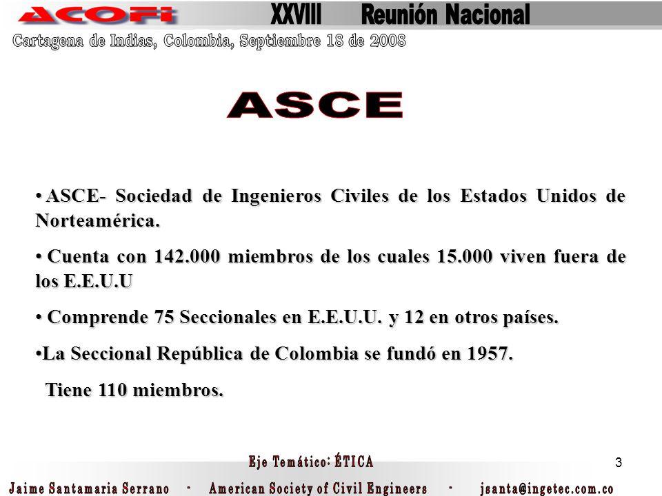 3 ASCE- Sociedad de Ingenieros Civiles de los Estados Unidos de Norteamérica. ASCE- Sociedad de Ingenieros Civiles de los Estados Unidos de Norteaméri