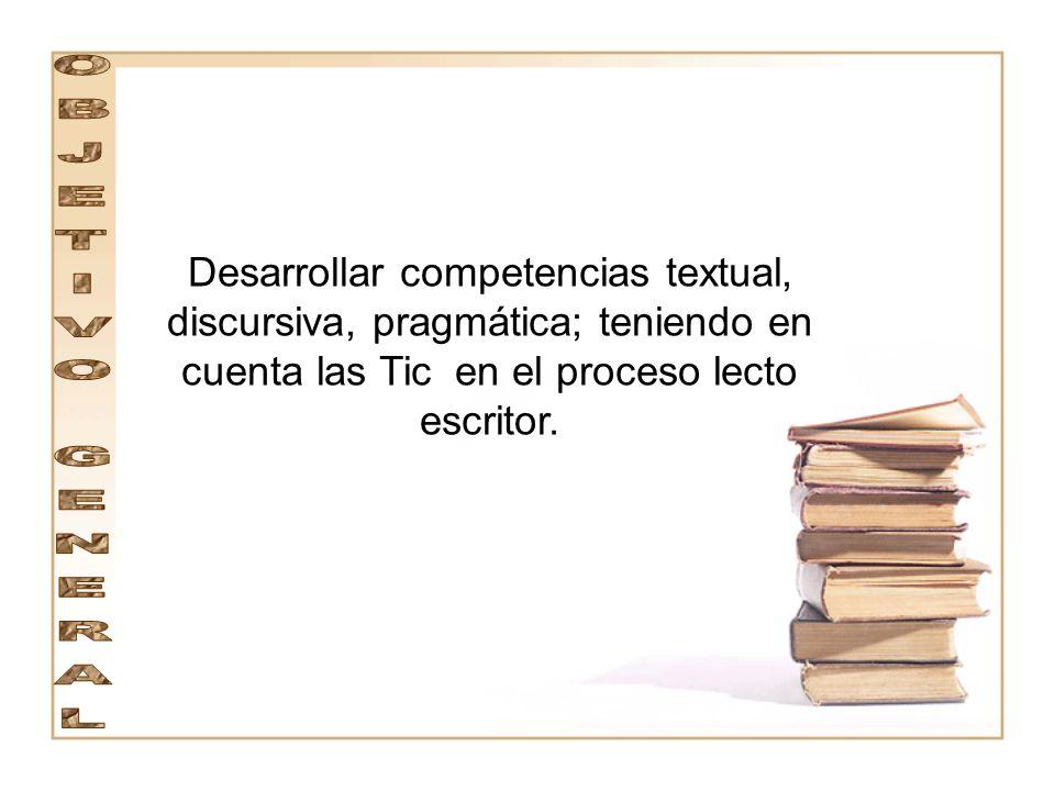 COMPETENCIA DISCURSIVA : El estudiante selecciona los recursos y estrategias pertinentes para interpretar o producción con sentido.