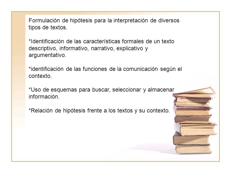 Reafirmar en los estudiantes la importancia de la interpretación, proposición y argumentación textual para todas las áreas del conocimiento.