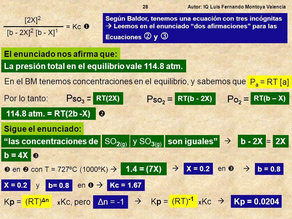 Según Baldor, tenemos una ecuación con tres incógnitas Leemos en el enunciado dos afirmaciones para las Ecuaciones y Autor: IQ Luis Fernando Montoya V