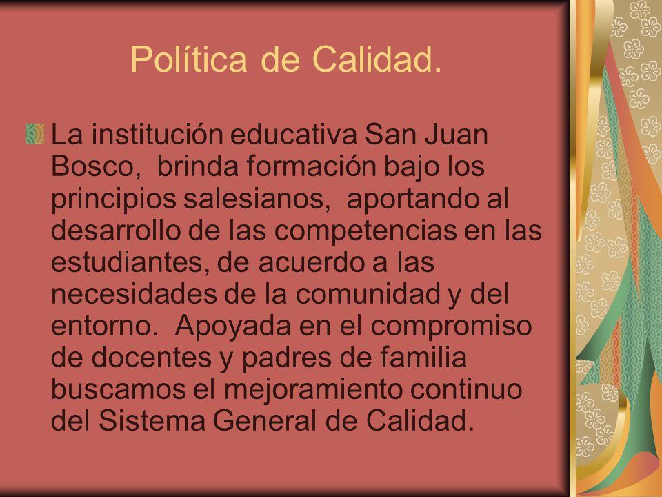 Política de Calidad.