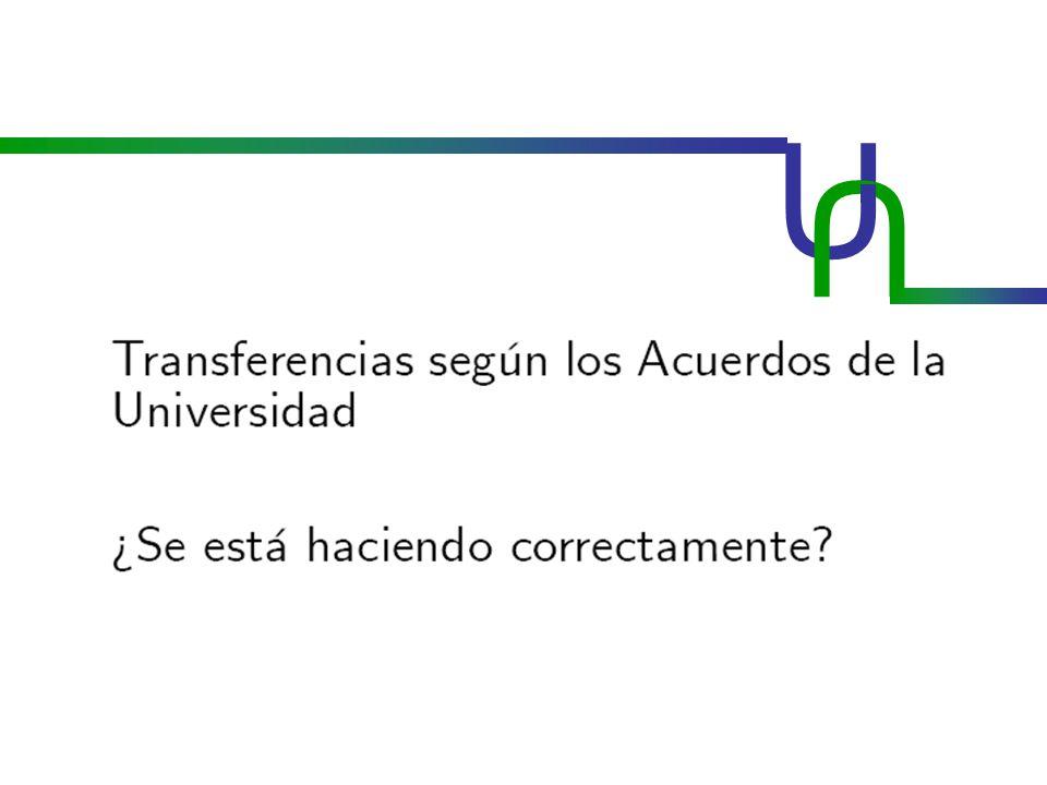 U U ACUERDO 04/2001 CSU ACUERDO 36/2009 CSU