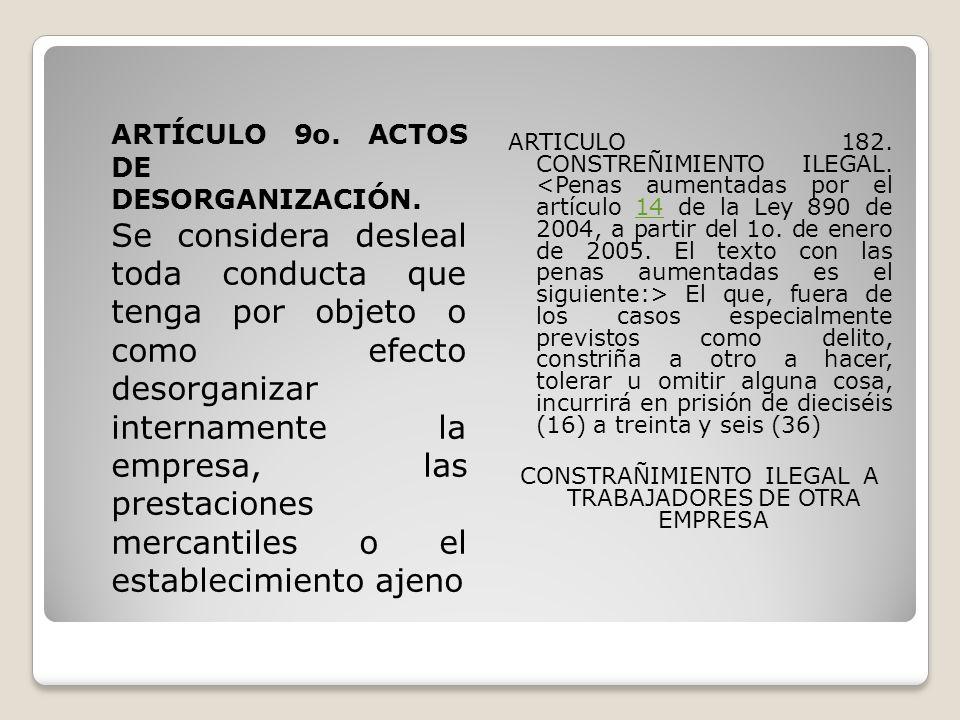 ARTÍCULO 10.ACTOS DE CONFUSIÓN.