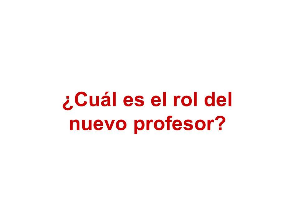 ¿Cuál es el rol del nuevo profesor?