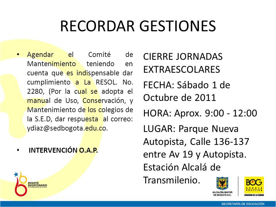 FORO FERIA DISTRITAL OCTUBRE 3 A 7 NODO NORTE LUGAR: BIBLIOTECA VIRGILIO BARCO FECHA: MARTES OCTUBRE 04 DE 2011 HORARIO: 7 A.M – 5 P.M NODO RURAL LUGAR: PLAZA ARTESANOS FECHA: JUEVES OCTUBRE 06 DE 2011 HORARIO: 7 A.M – 5 P.M