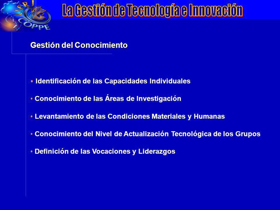 VII Conferência da ANPEI: Inovação, Competitividade e Inserção Internacionalização Gestión del Conocimiento Identificación de las Capacidades Individu