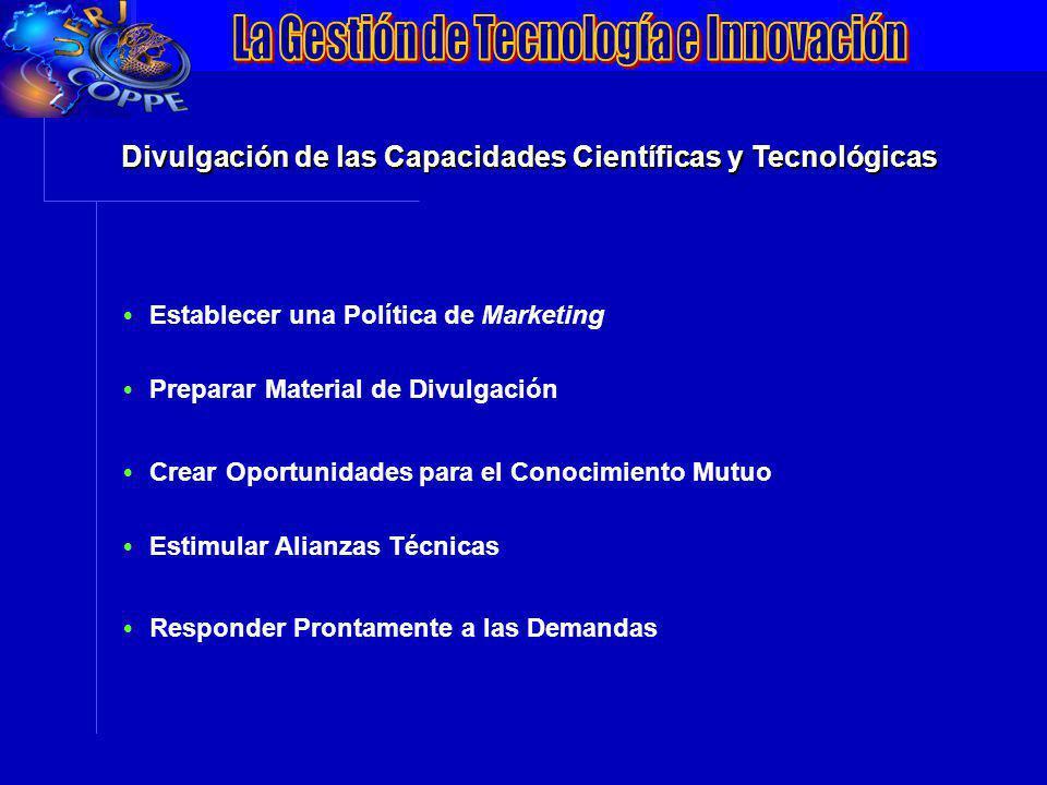 VII Conferência da ANPEI: Inovação, Competitividade e Inserção Internacionalização Divulgación de las Capacidades Científicas y Tecnológicas Establece