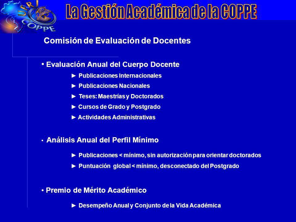 VII Conferência da ANPEI: Inovação, Competitividade e Inserção Internacionalização Comisión de Evaluación de Docentes Evaluación Anual del Cuerpo Doce