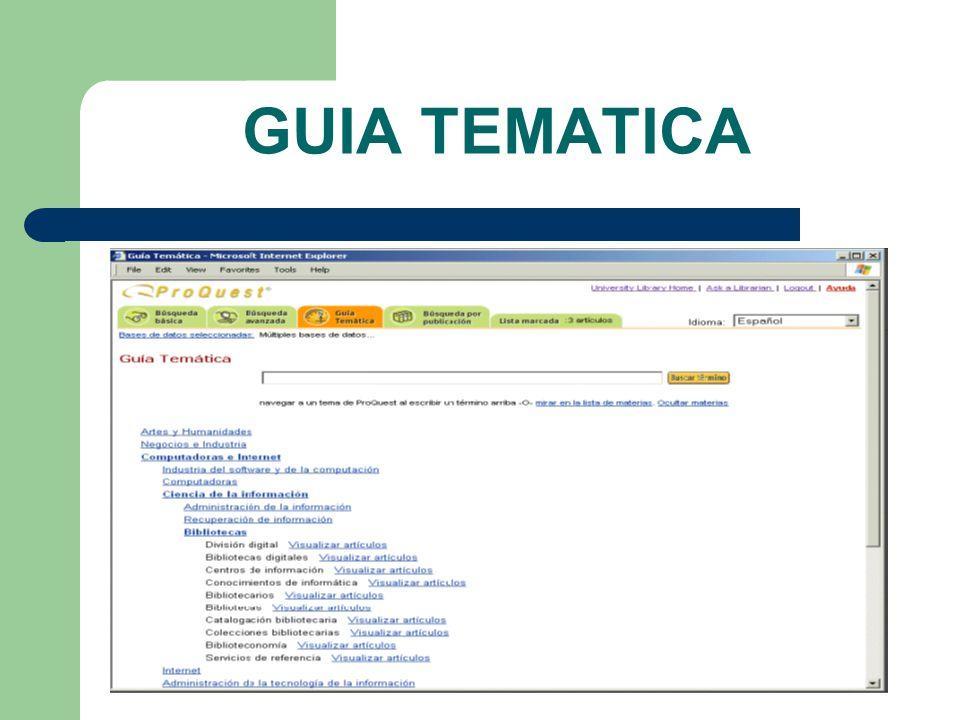 GUIA TEMATICA