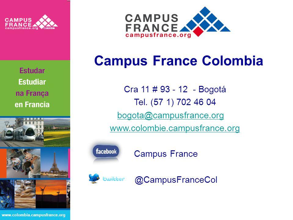 Campus France Colombia Cra 11 # 93 - 12 - Bogotá Tel.