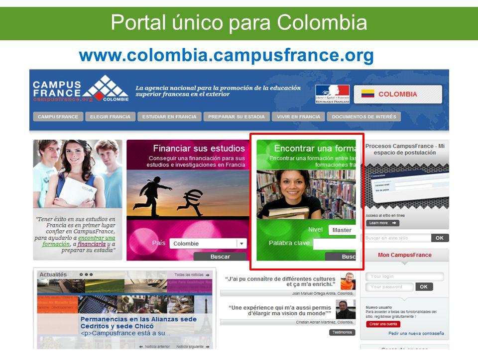 Portal único para Colombia www.colombia.campusfrance.org Portal único para Colombia