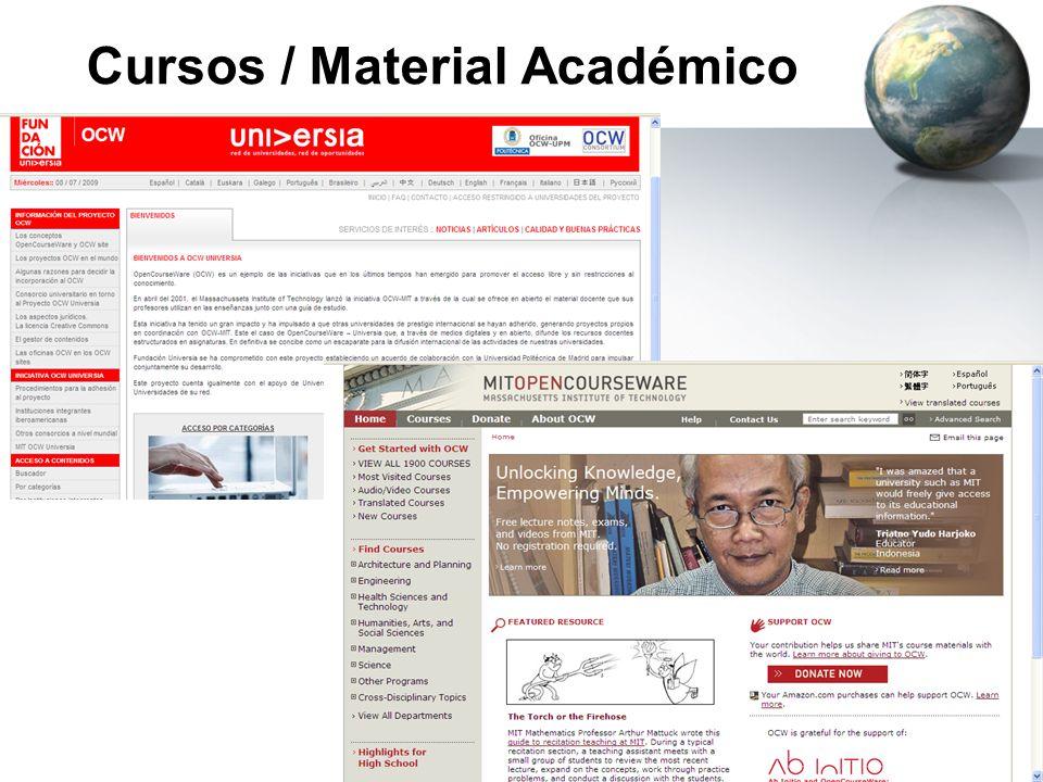 Cursos / Material Académico