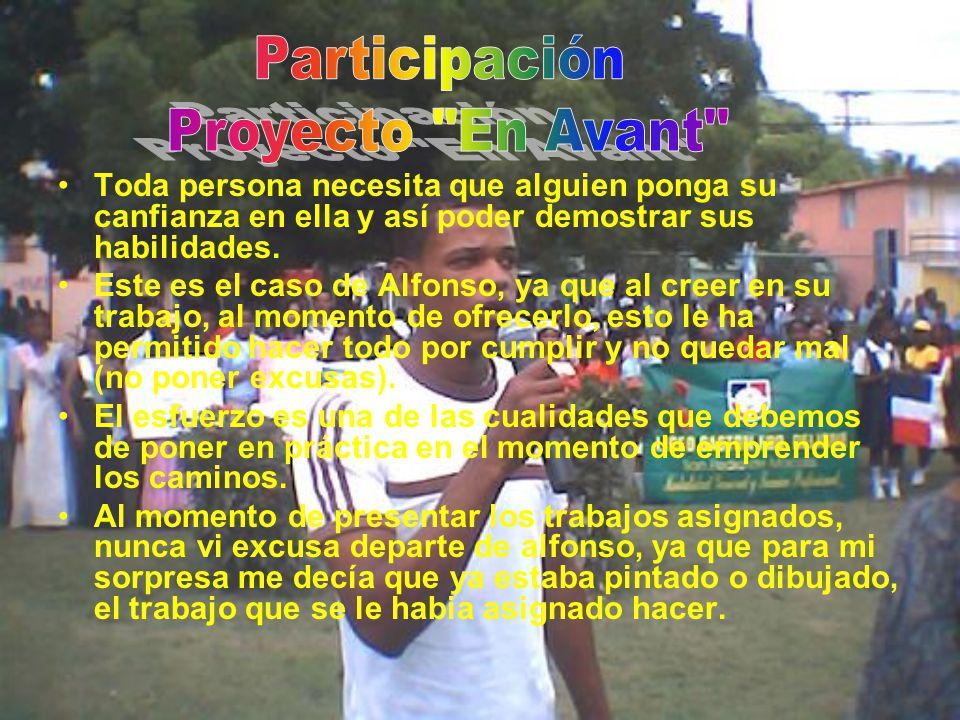 Alfonso Pina es un joven que a pesar de las dificultades a su alrededor, ha querido como todo joven seguir sus estudios y asi lograr sus metas.
