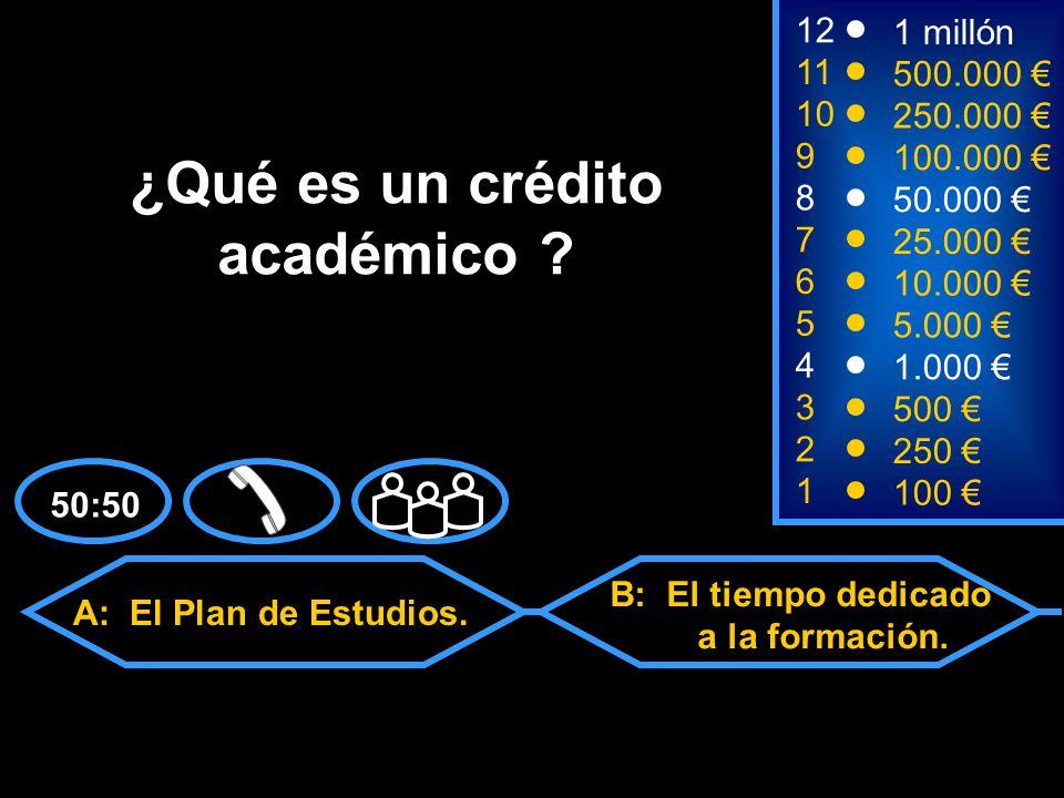 A: El Plan de Estudios. C: Las Asignaturas.D: Todas las anteriores.