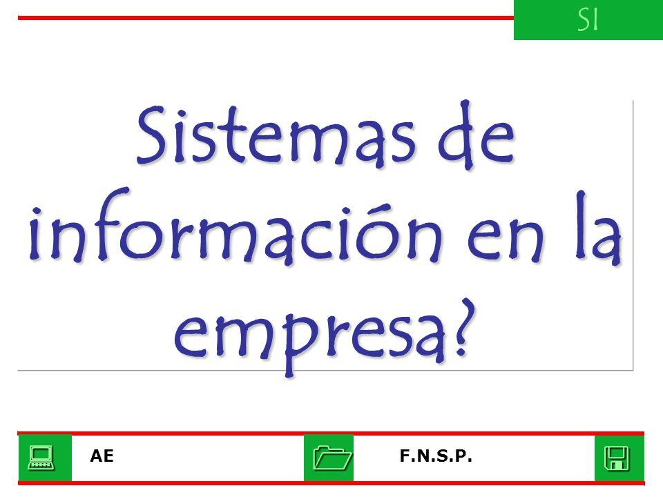 Sistemas de información en la empresa? SI F.N.S.P.AE