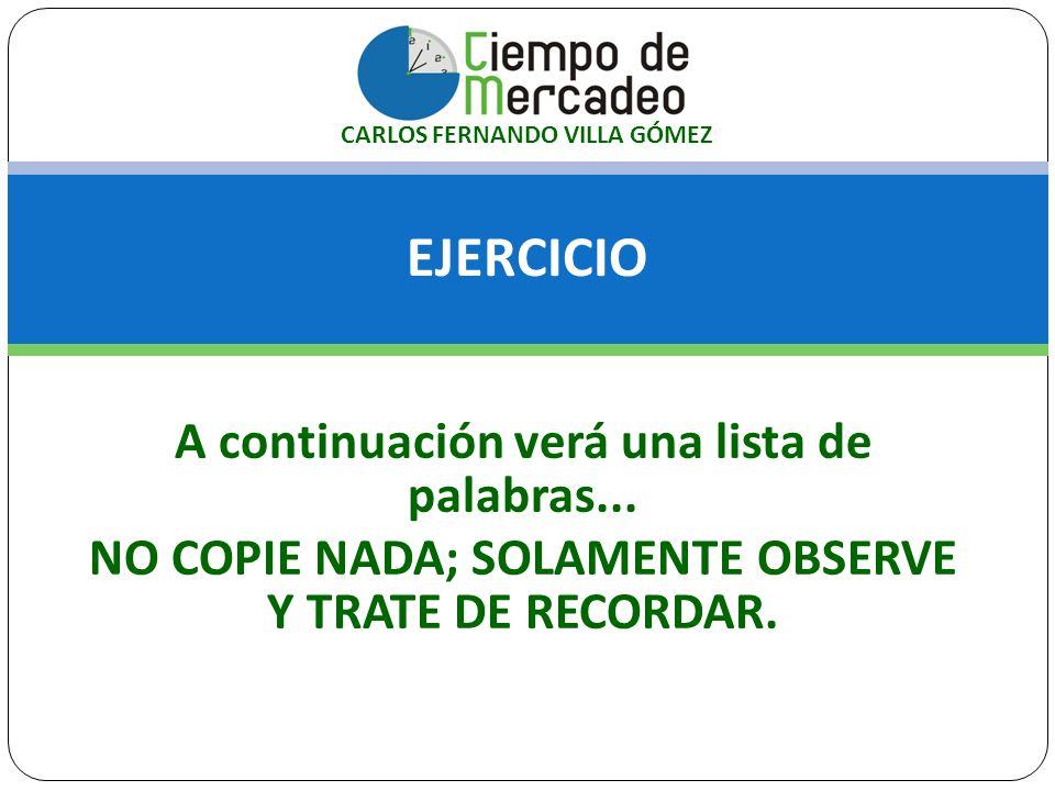 EL MERCADO… SON PERSONAS: Son el(los) grupo(s) objetivo(s) de cualquier organización: Demografía: Edad, sexo, profesión, ingresos, estado civil, tamaño de la empresa, años en el mercado, No.