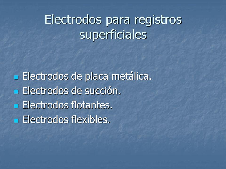 Electrodos para registros superficiales Electrodos de placa metálica.