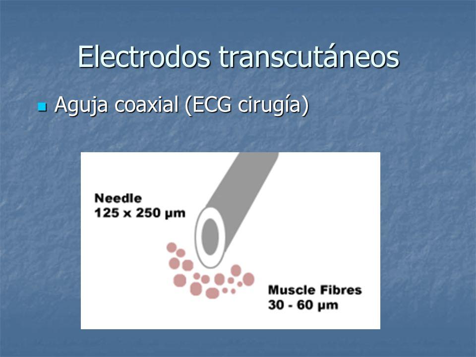 Electrodos transcutáneos Aguja coaxial (ECG cirugía) Aguja coaxial (ECG cirugía)