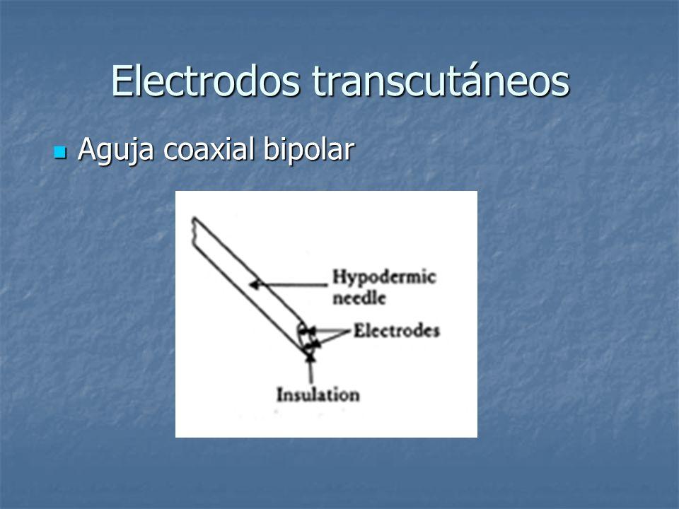 Electrodos transcutáneos Aguja coaxial bipolar Aguja coaxial bipolar