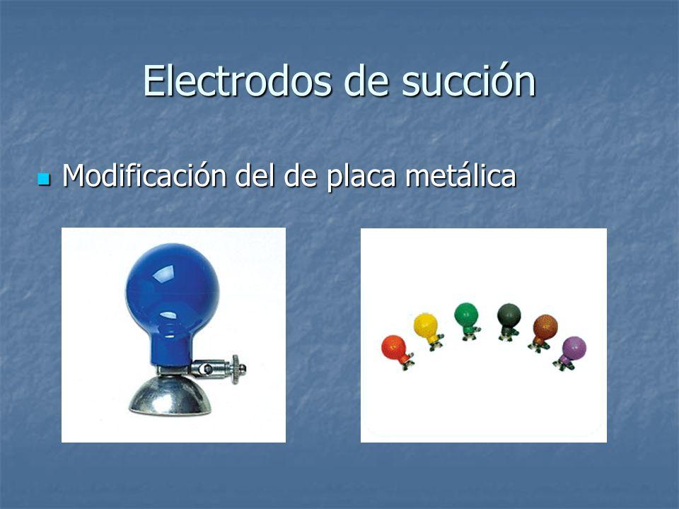 Electrodos de succión Modificación del de placa metálica Modificación del de placa metálica