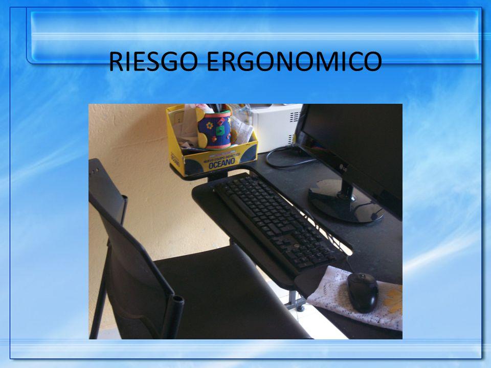 RIESGO ERGONOMICO