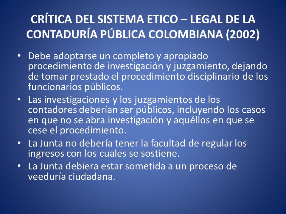 Criterio adicional Es necesario que los organismos colombianos tengan talla mundial.