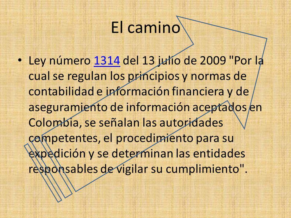 El camino Ley número 1314 del 13 julio de 2009