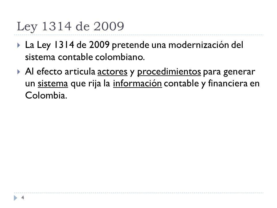 Desarrollos de la Ley 1314 de 2009 Decreto 1851 de 2013 (Agosto 29) Por el cual se reglamenta la Ley 1314 de 2009 sobre el marco técnico normativo para los preparadores de información financiera que se clasifican en el literal a) del parágrafo del artículo 10 del Decreto 2784 de 2012 y que hacen parte del Grupo 1 15