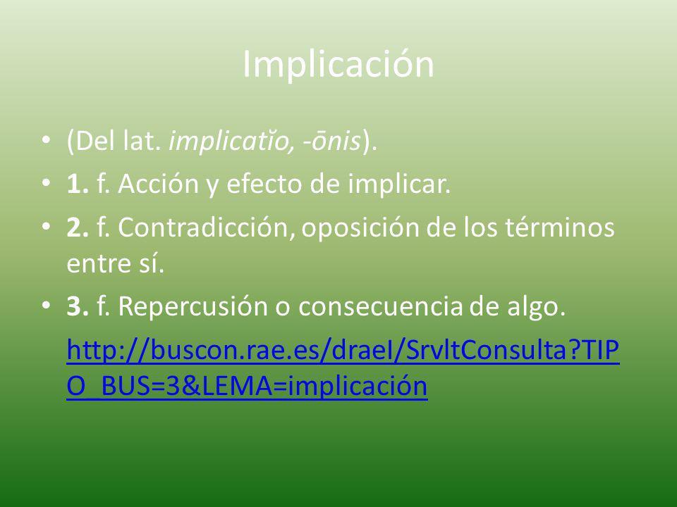 Implicar (Del lat.implicāre). 1. tr. Envolver, enredar.