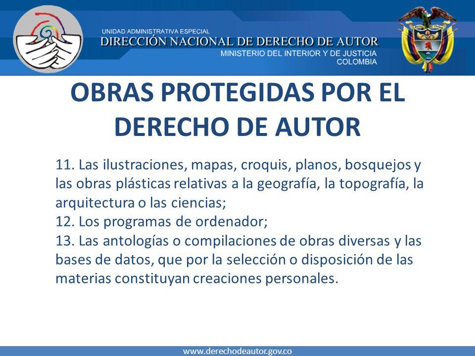 OBRAS PROTEGIDAS POR EL DERECHO DE AUTOR 11.