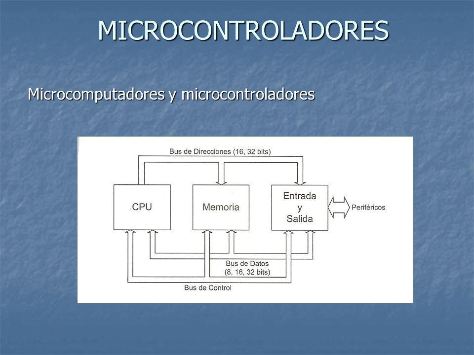 MICROCONTROLADORES Microcomputadores y microcontroladores
