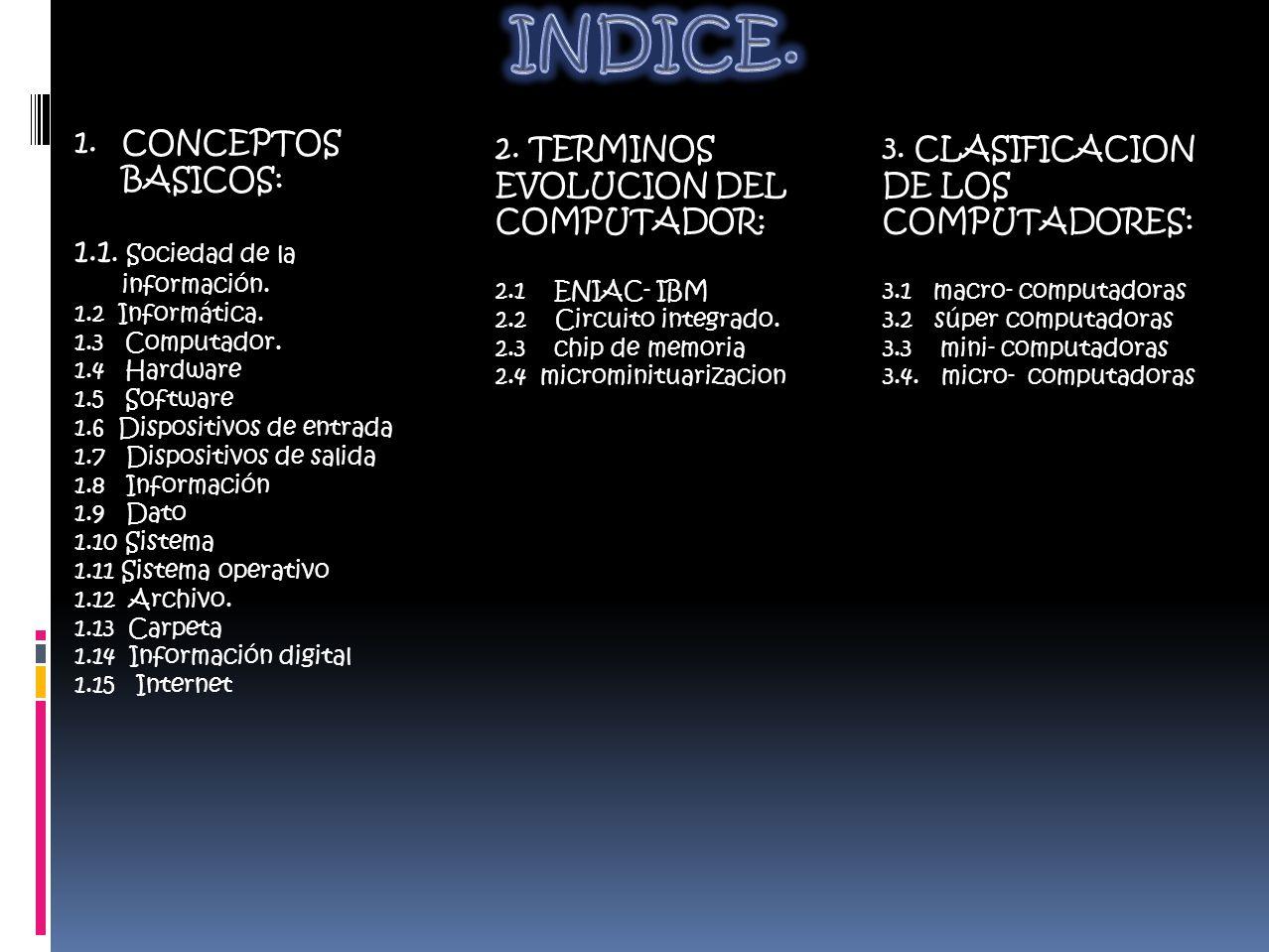 1.CONCEPTOS BASICOS: 1.1. Sociedad de la información.
