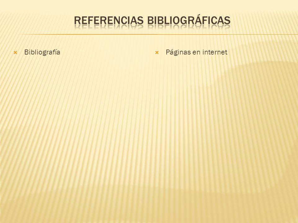 Bibliografía Páginas en internet