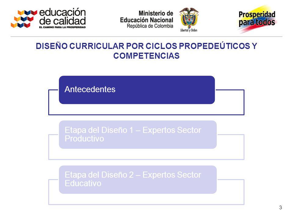Segunda Etapa del Diseño – Expertos Sector Educativo 24 3.Tiempos de formación (Créditos académicos)