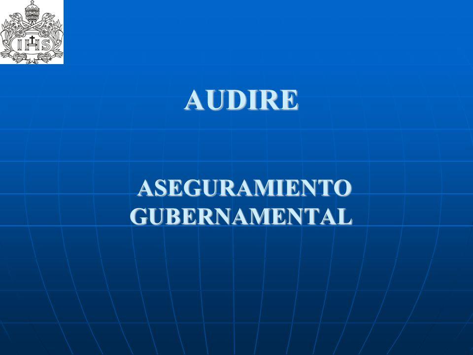 AUDIRE ASEGURAMIENTO GUBERNAMENTAL