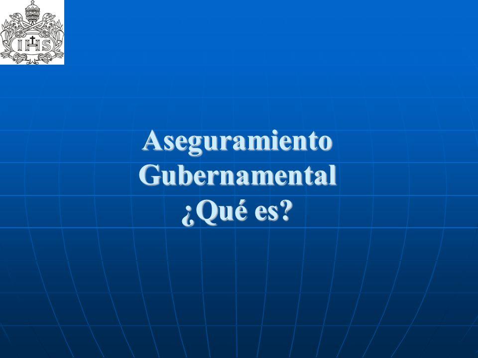 Aseguramiento Gubernamental ¿Qué es?