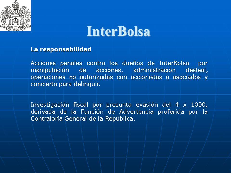 InterBolsa  La responsabilidad Acciones penales contra los dueños de InterBolsa por manipulación de acciones, administración desleal, operaciones no