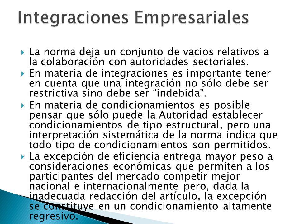 La norma deja un conjunto de vacios relativos a la colaboración con autoridades sectoriales.