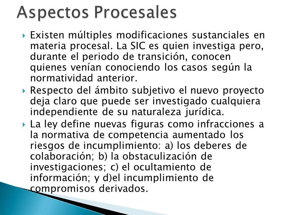 Existen múltiples modificaciones sustanciales en materia procesal.