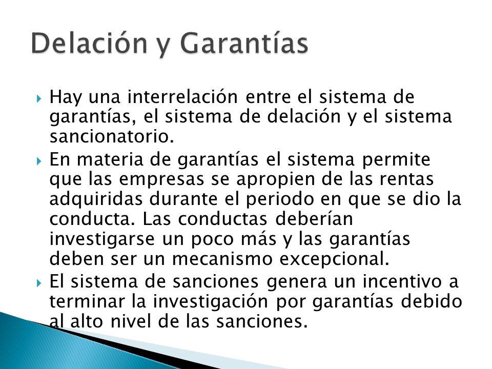 Hay una interrelación entre el sistema de garantías, el sistema de delación y el sistema sancionatorio.