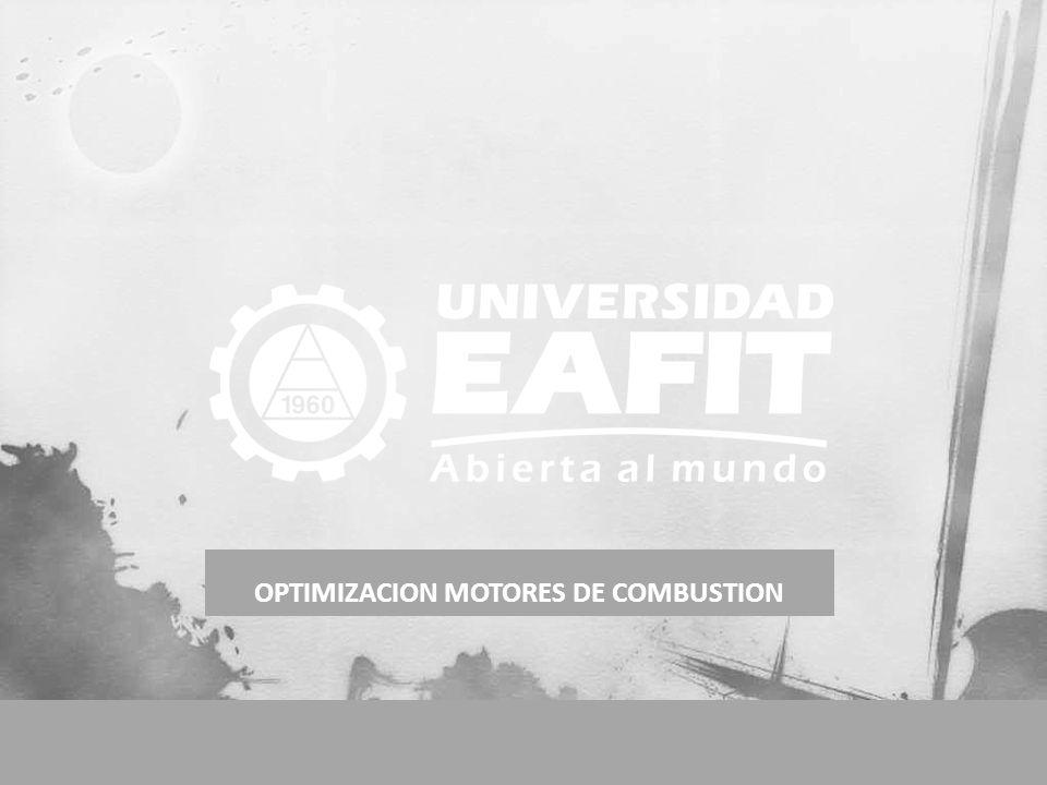 OPTIMIZACION MOTORES DE COMBUSTION E conómica E nergética E cológica