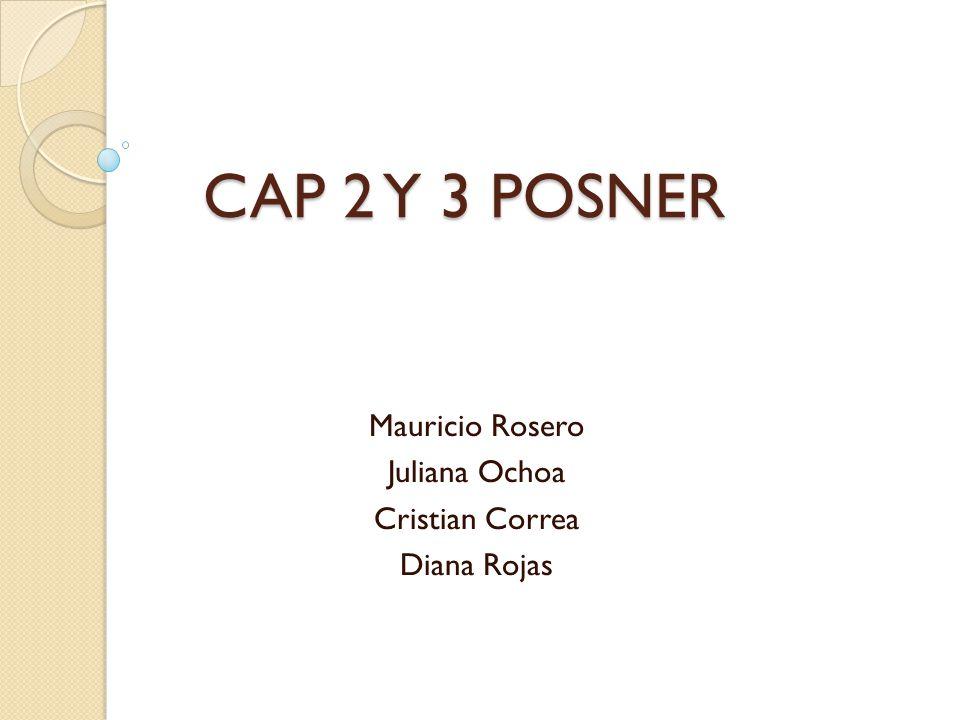 CAP 2 Y 3 POSNER CAP 2 Y 3 POSNER Mauricio Rosero Juliana Ochoa Cristian Correa Diana Rojas
